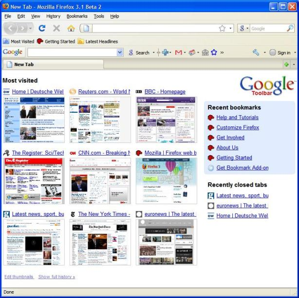 Google's toolbar gives Firefox Chrome look - Techglimpse