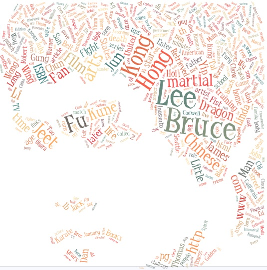 Bruce lee word cloud