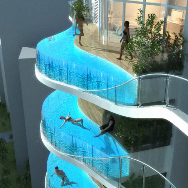 Bandra ohm tower with glass walled swimming pool balcony to be built