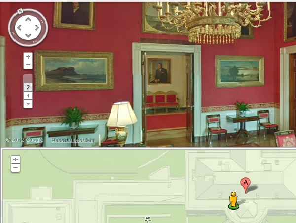 Google Maps takes you inside the White House : Video ... on white house map floor, white house art projects, white house heckler, white house complex map, white house thanksgiving 2014, white house washington dc map, white house washington monument lincoln memorial, white house 6 floors, white house jumper, white house scaffolding, white house west wing, white house location state, white house drone crash, white house mosque, white house blue, white house obama living quarters, white house aliens, white house chief of executive, white house lighting, white house grounds map,