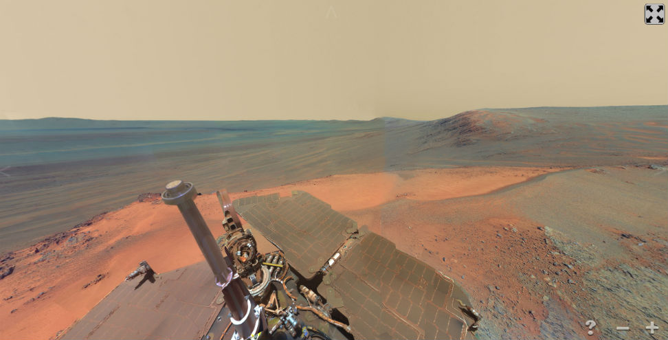 panorama view of mars - released by nasa