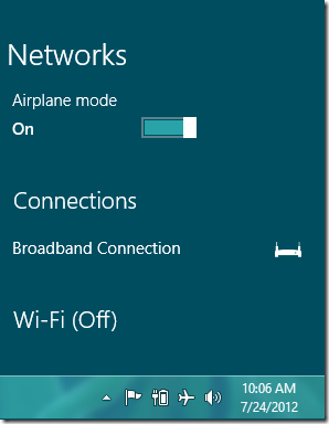 What is Windows 8 Metered Connection and Airplane Mode ...