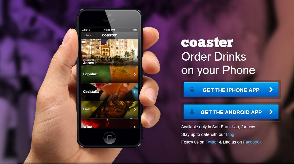 Order Drinks on your Phone: 'Coaster' app for android and ...