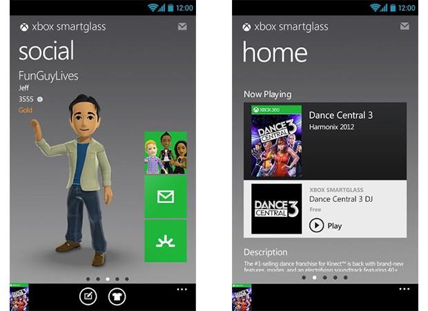 Microsoft's Xbox SmartGlass app for Android - Techglimpse