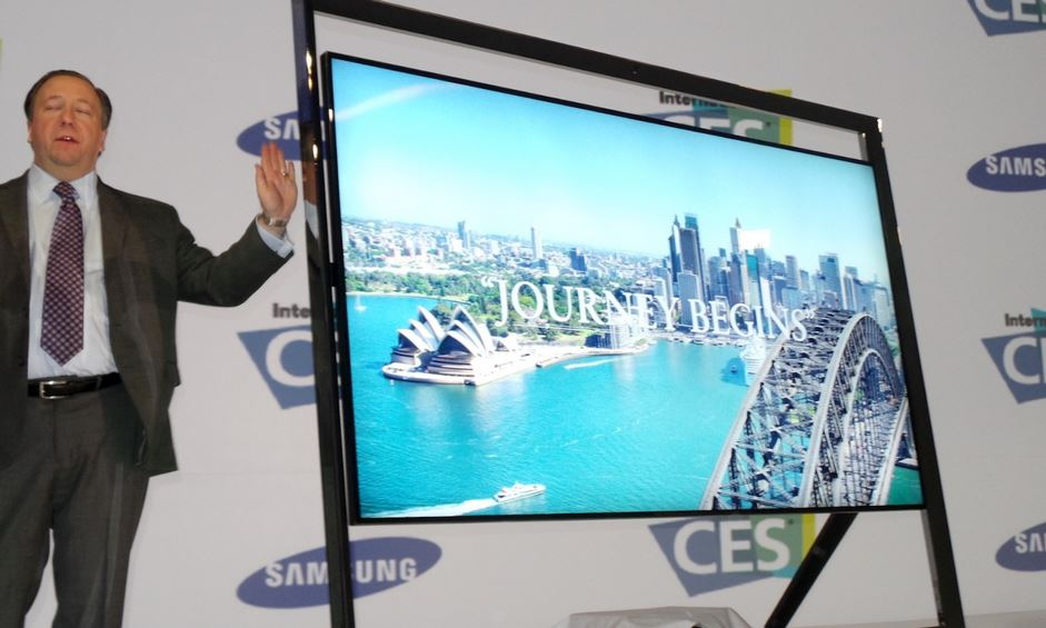 samsung unveils un85s9 an 85 inch 4k s9 ultra hdtv with floating design at ces 2013 techglimpse. Black Bedroom Furniture Sets. Home Design Ideas