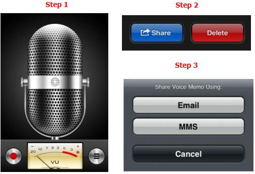 Record Voice Memo and share it