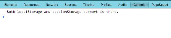 local storage browser support