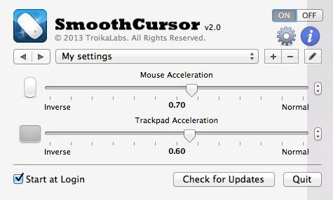 Smooth Cursor app for OSX