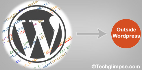 wordpress functions and posts outside wordpress directory