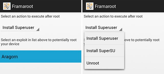 One click Root method for almost all Android devices - Framaroot Apk