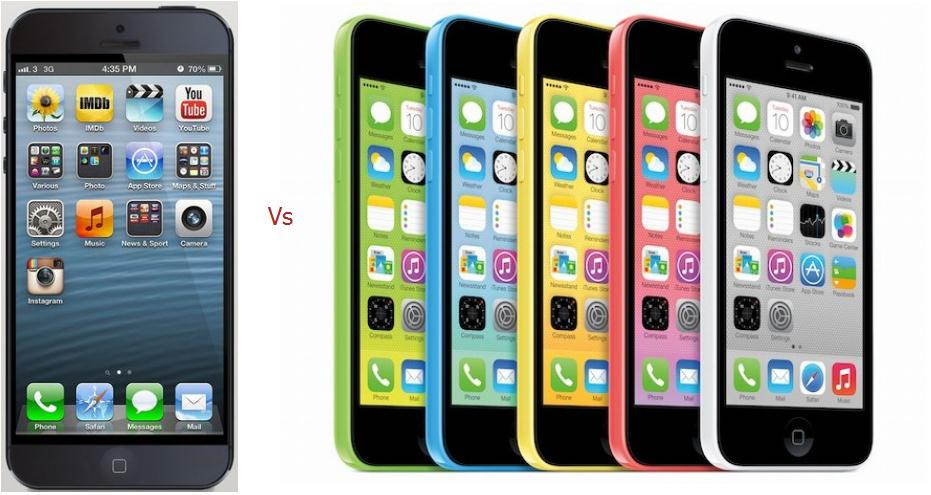 Difference between iPhone 5S, iPhone 5C
