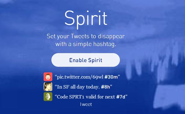 Spirit Twitter app