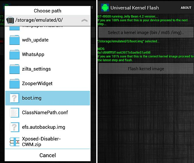 Flash Custom Kernels on your Android using Universal Kernel