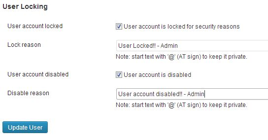 Lock/Disable WordPress user accounts