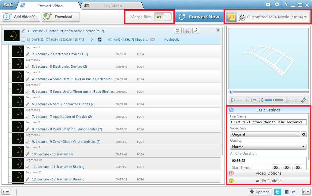 How to download youtube videos from playlist and merge together as any video converter video list ccuart Choice Image