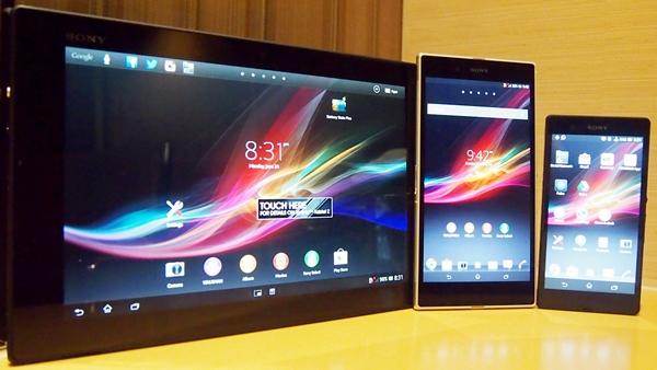 Xperia Tablet Z, Z1 and Z ultra