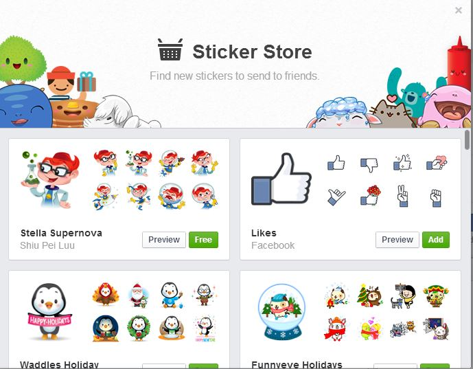 facebook sticker like button