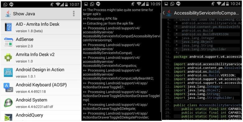 How to decompile and view source code of any Android application