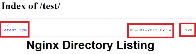 nginx directory listing