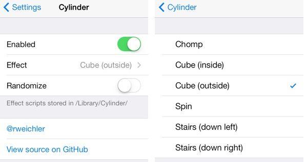 Cylinder cydia app