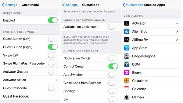 enable guest mode iphone