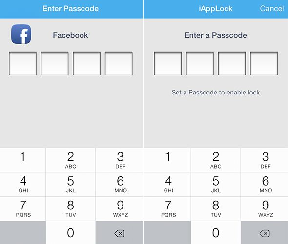 Passcode protect apps
