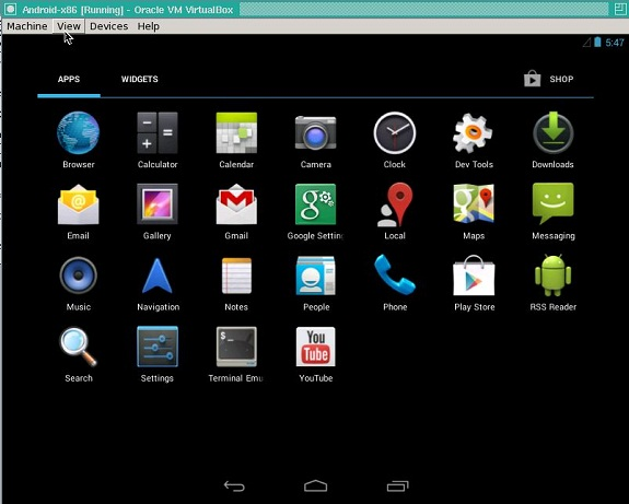 Install android apps on VM