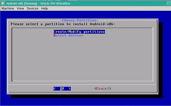 modify partition android vm