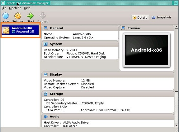Android 4.3 in VM