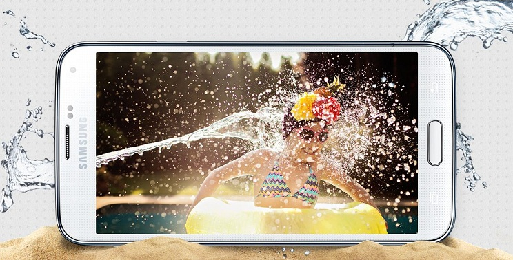 Galaxy S5 dust and water proof