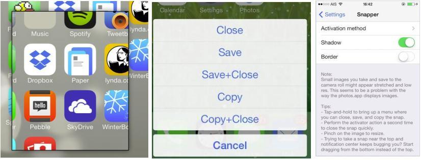 Screenshot app iPhone
