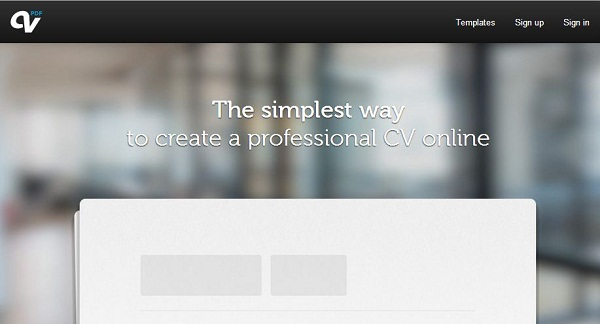 Online resume creator