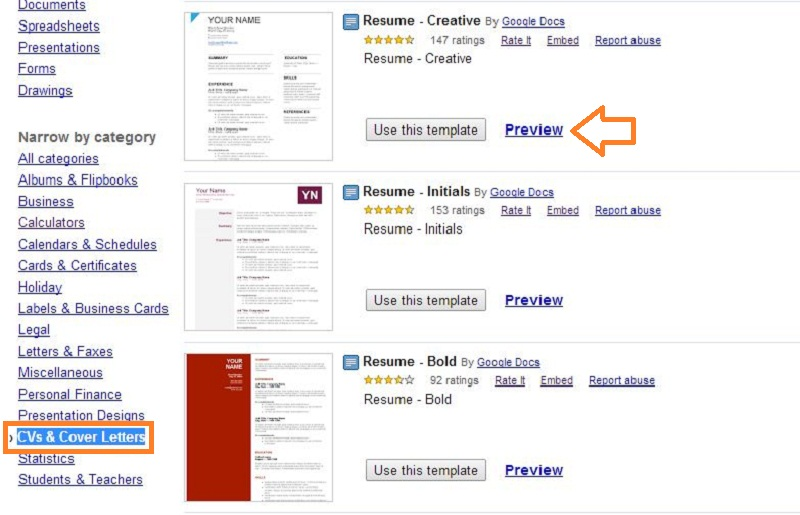 resume templates in google drive - Resume Template Google Drive