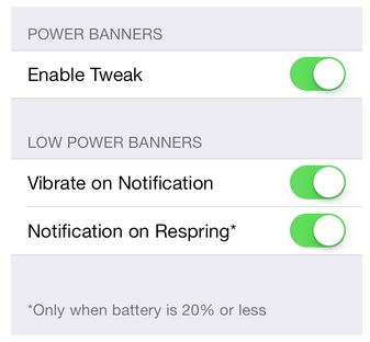 iPhone low battery alerts