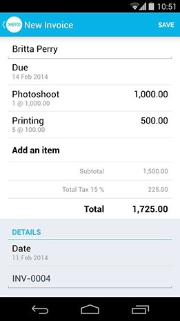 Xero Touch For Android Now You Can Stay On Top Of Your Finances - Mobile invoice app android