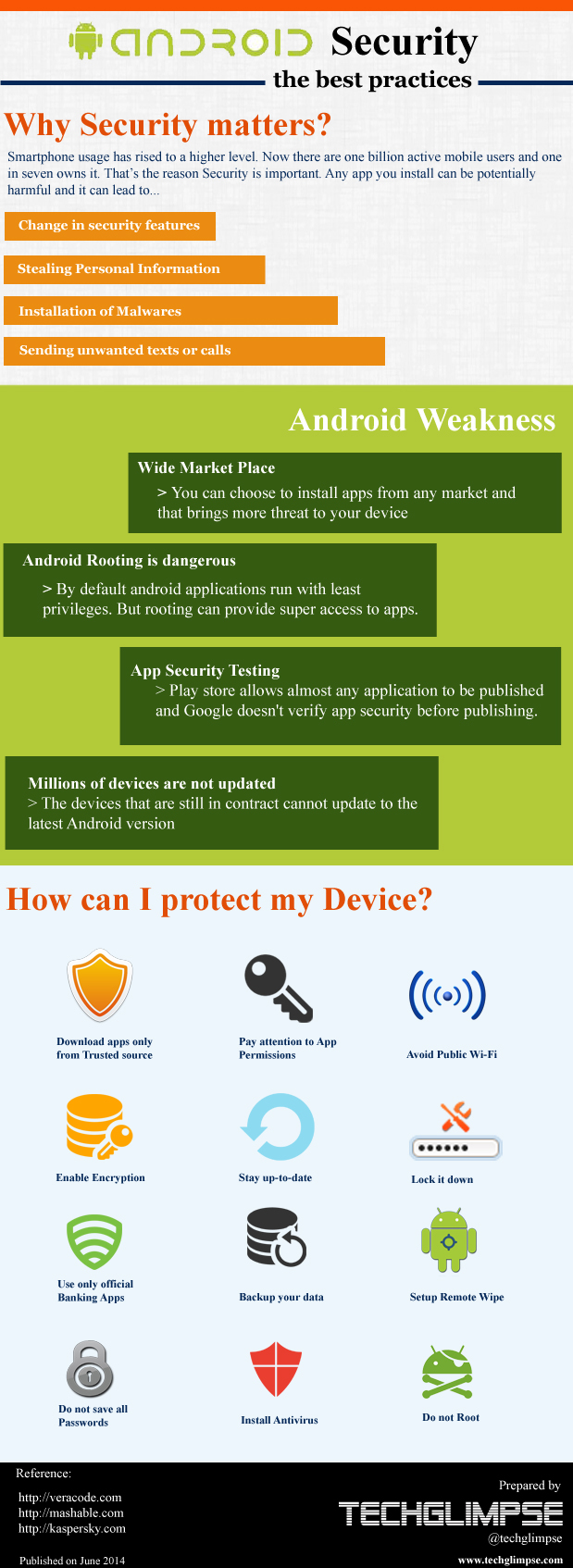 Best practices android security