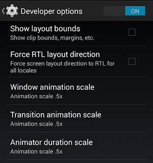 how to turn on the long press in android
