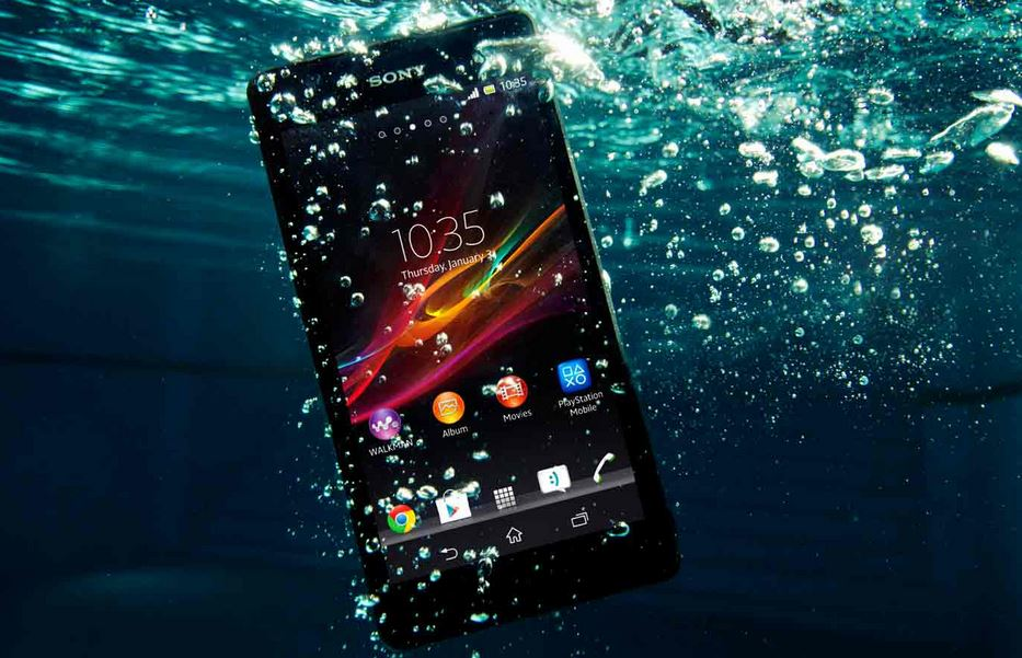 waterproof sony smartphone