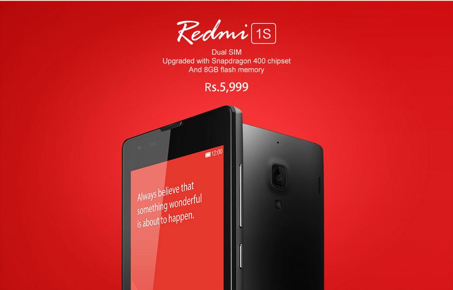 xiaomi redmi1s price
