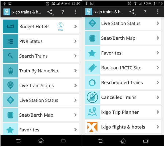 Ixigo Trains & Hotels app: Makes your trips more convenient than you