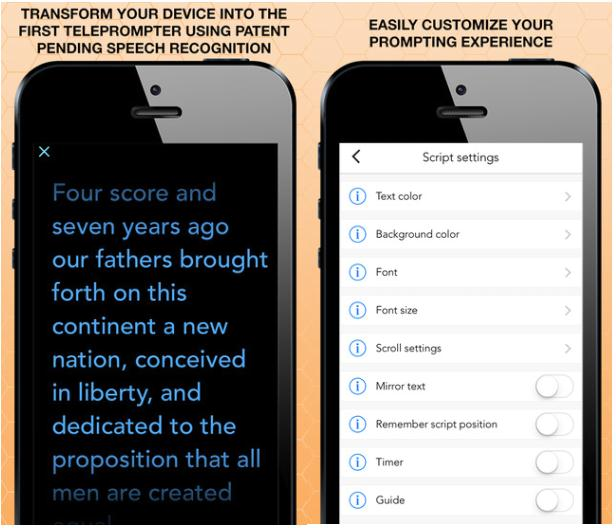 Teleprompter app for ios