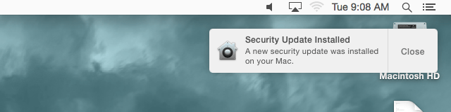 Security Update installed screenshot - courtesy Andrew Cunningham
