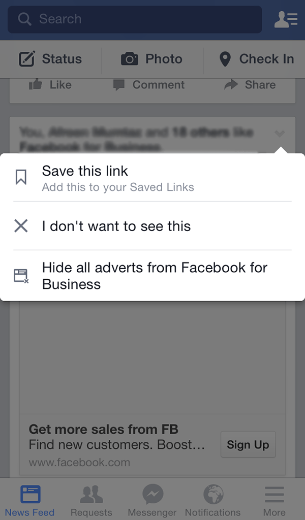 save fb content and read later