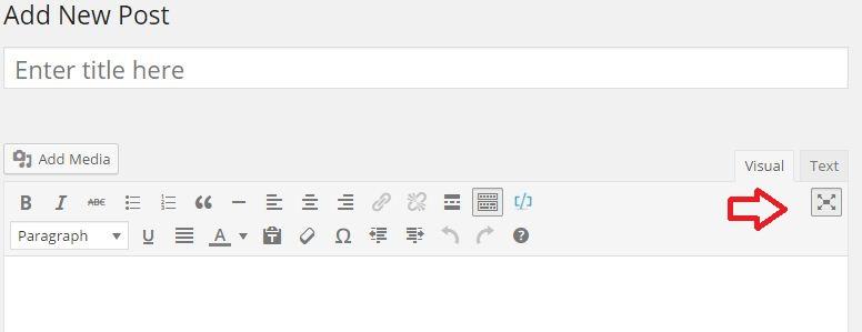 distraction free writing wordpress