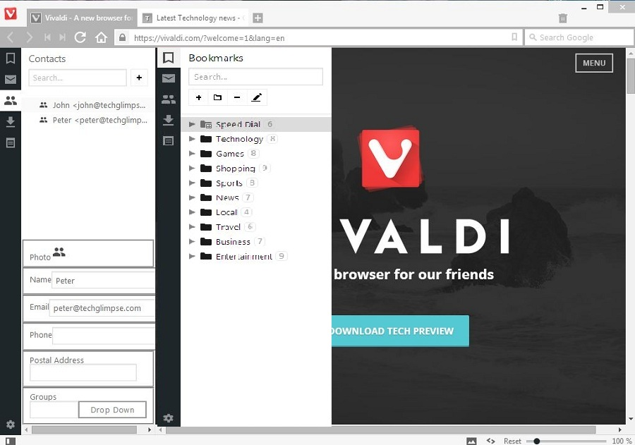 Vivaldi new features