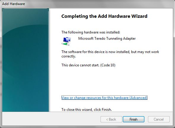 how to turn on teredo windows 10