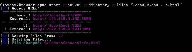 browser-sync run