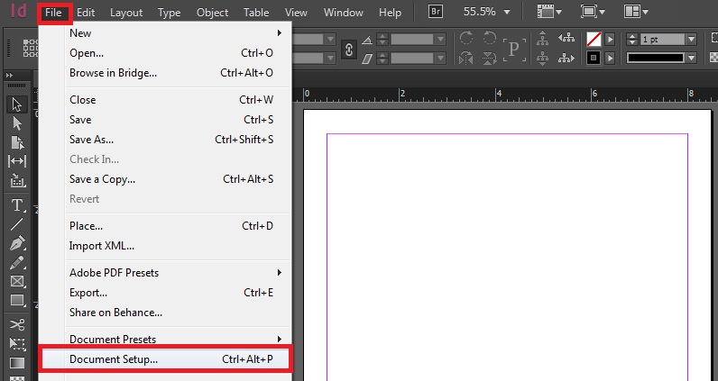 how to change units in indesign