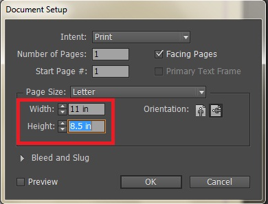 indesign how to change margin size
