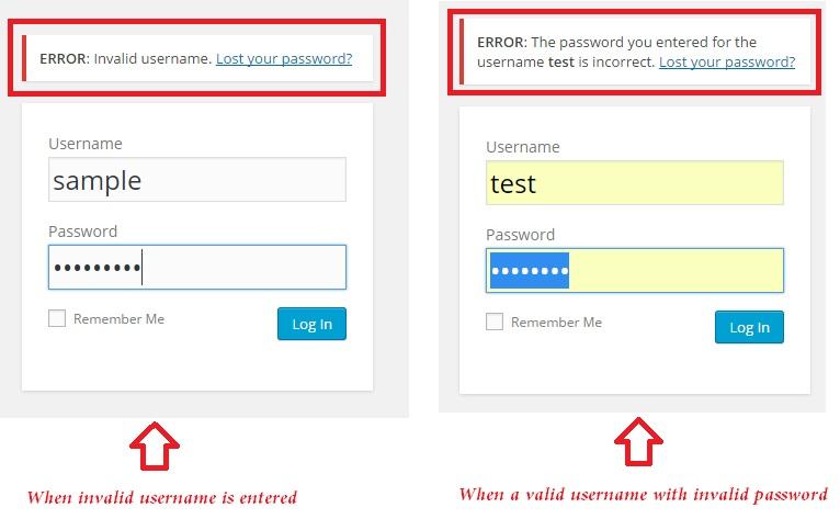 customize login errors wordpress